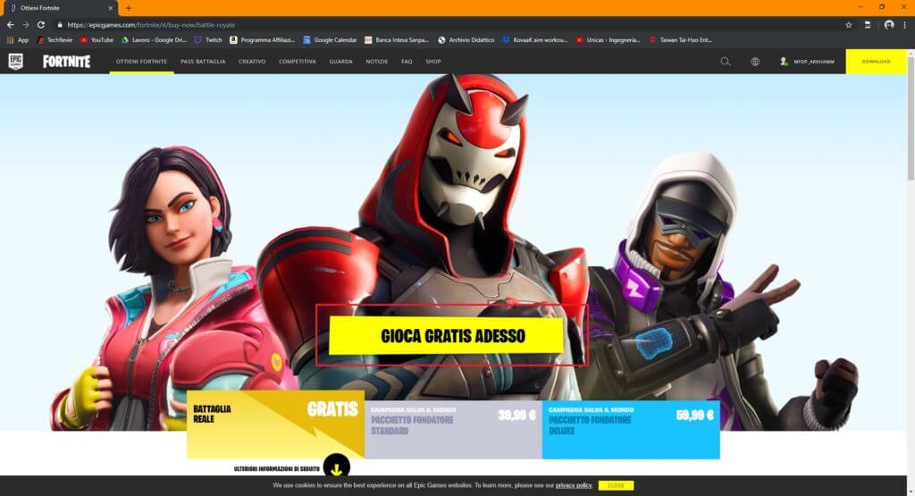 Come installare fortnite su pc-1